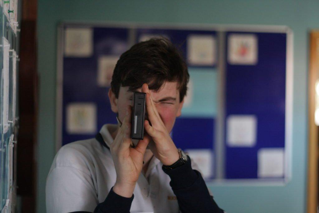 boy filming